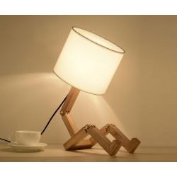 Dřevěná dekorativní noční lampa