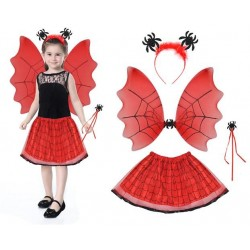Kostým čarodějnice - červený