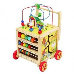 Dřevěný vozík - vzdělávací kostka