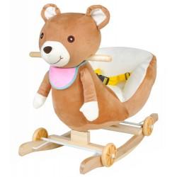 Dětská houpačka s kolečky - Medvídek