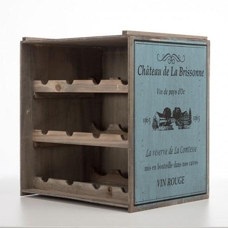 Dřevěný starobylý stojan na láhve Château de la Brissonne