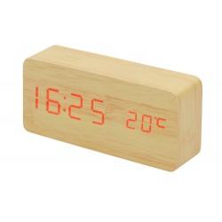 Dřevěné LED hodiny