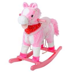 Houpací koník 74cm - růžový