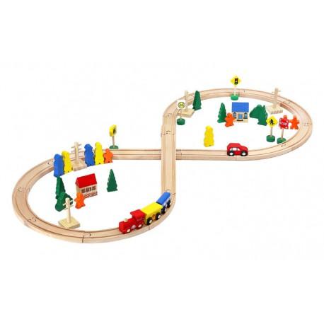 Dřevěná železniční trať - 50 dílů