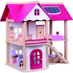 Pohádkový dřevěný domek pro panenky