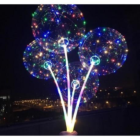 LED svítící balón s rukojetí - 1ks