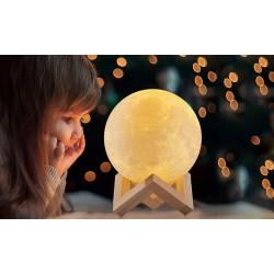Stolní lampa měsíc 3D