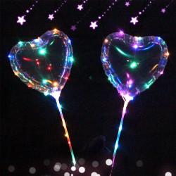 LED svítící balón srdíčko