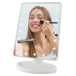 LED zrcadlo s posvíceným - 22 LED - Bílé
