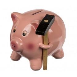 Pokladnička prasátko s kladívkem