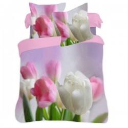 Povlečení 3D tulipány 140x200