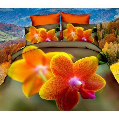 Povlečení 3D orchidej 140x200