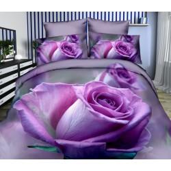 Povlečení 3D fialová růže 140x200