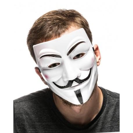 Maska Anonymous Vendeta - Bílá
