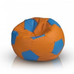 Sedací vak ECOPUF - FOOTBALL S barevný - ekokůže