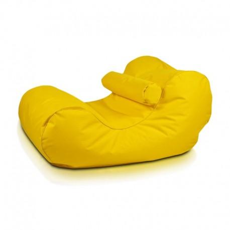 Ecopuf Sedací vak ECOPUF - HOGAN - polyester NC4 - Žlutá
