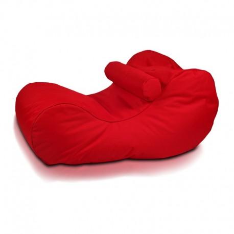 Ecopuf Sedací vak ECOPUF - HOGAN - polyester NC12 - Červená