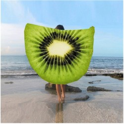 Kulatá plážová podložka Kiwi 135cm