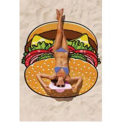 Kulatá plážová podložka Hamburger 135cm