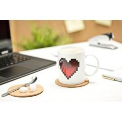 Pixelový hrnek srdce 300ml