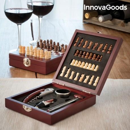 Set na víno šachy 5ks 149647