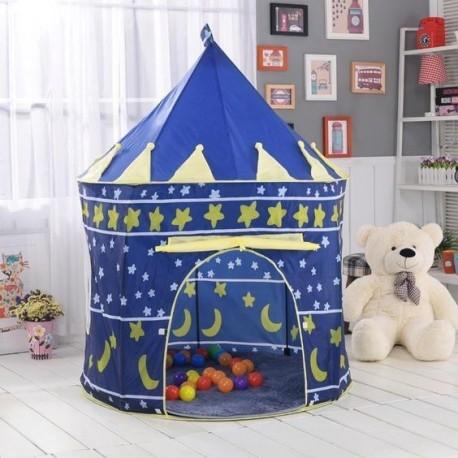 Dětský stan zámek - modrý