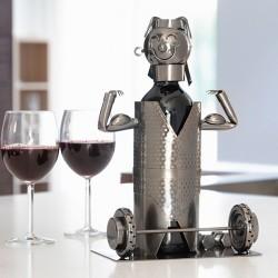 Kovový stojan na víno vzpěrač