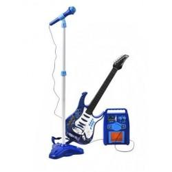Elektrická kytara + mikrofon + zesilovač