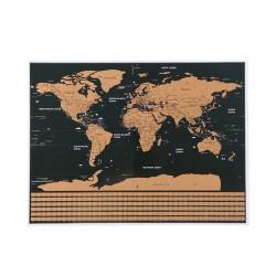 Stírací mapa světa s vlajkami + příslušenství