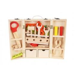 Dřevěný kufřík pro malého kutila