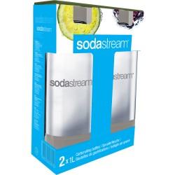 Fľaša 1l GREY/DUO (TWIN) PACK SODASTREAM