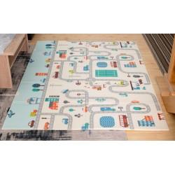 Pěnová hrací podložka - Ulice - 150 x 195cm
