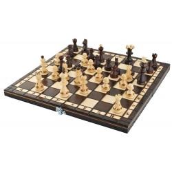 Dřevěná cestovní šachová sada