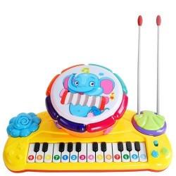 Dětské klávesy s bubnem