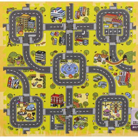 Pěnové puzzle na zem cesta 9 kusů
