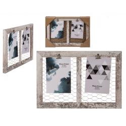 Dřevěný rámeček na fotografie se síťkou