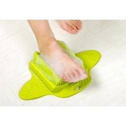 Masážní kartáč na nohy - zelený