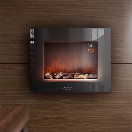 Elektrický krb na stěnu Cecotec Warm 2600 Curved Flames 2000W