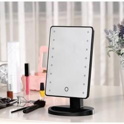 LED zrcadlo s posvíceným - 16 LED - černé