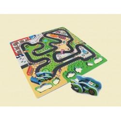 Pěnové puzzle autodráha 9ks