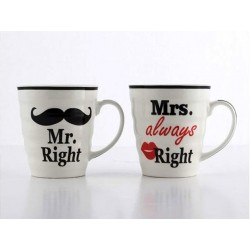 Hrnky Mr right a Mrs always right 250ml 2ks
