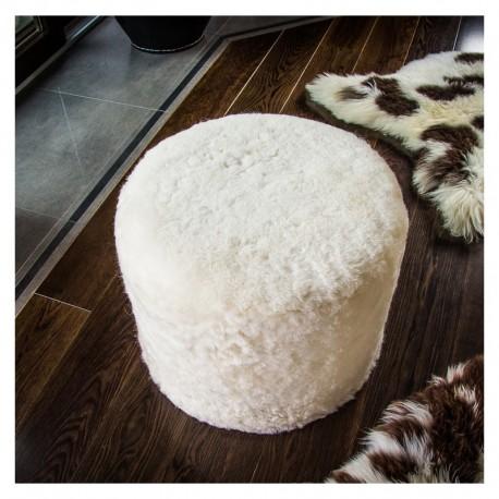 Taburetka Ecopuf - ROLLER - Premium ovčia koža