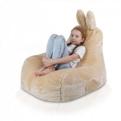 Detský sedací vak ECOPUF - Zajíček L - Shaggy