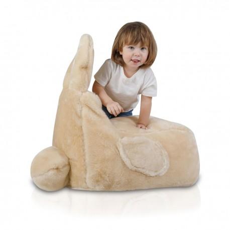 Detský sedací vak ECOPUF - Zajko S - Shaggy