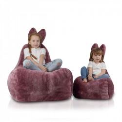 Detský sedací vak ECOPUF - Zajíček S - Shaggy