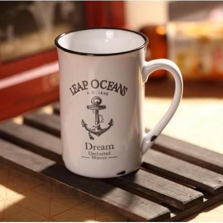 Porcelánový retro hrnek - Ocean
