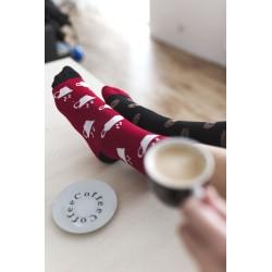 Veselé ponožky HESTY - Kávopič