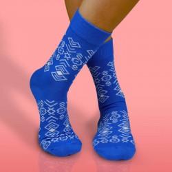Veselé ponožky HESTY - Čičman modrý