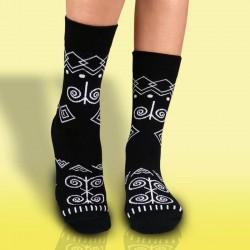 Veselé ponožky HESTY - Čičman černý