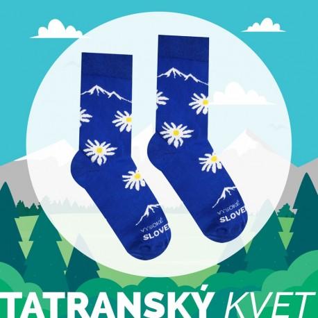 Veselé ponožky HESTY Vysoké Tatry - Tatranský květ